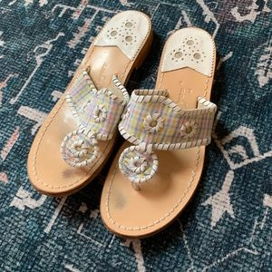 Jack Rogers plaid sandal size 8